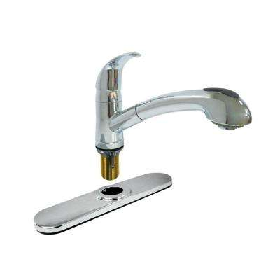 Dominion Single-Handle Pull-Out Sprayer Kitchen Faucet in Chrome
