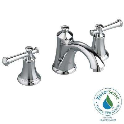 Portsmouth 8 in. Widespread 2-Handle Bathroom Faucet in Polished Chrome with Speed Connect Drain