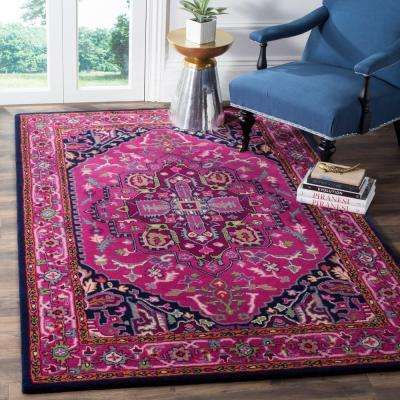 Bellagio Pink/Navy 8 ft. x 10 ft. Area Rug