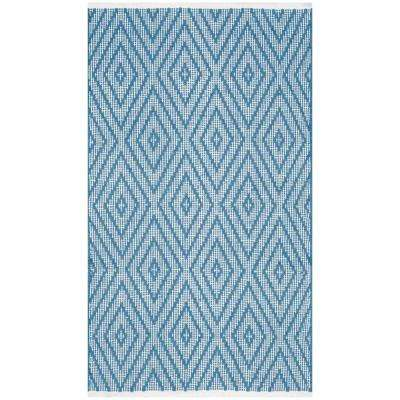 Montauk Blue/Ivory 2 ft. 6 in. x 4 ft. Area Rug