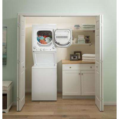 White Laundry Center with 2.3 cu. ft. Washer and 4.4 cu. ft. 120-Volt Vented Gas Dryer