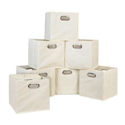 Cubo 12 in. x 12 in. Natural Foldable Fabric Bins (12-Pack)