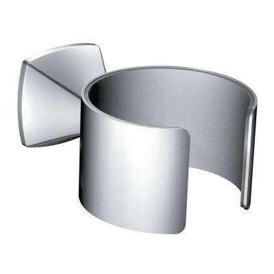 Voss Wall Mounted Hair Dryer Holder in Chrome