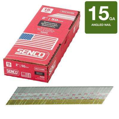 2 in. x 15-Gauge Galvanized Angled Nail (4,000 per Box)