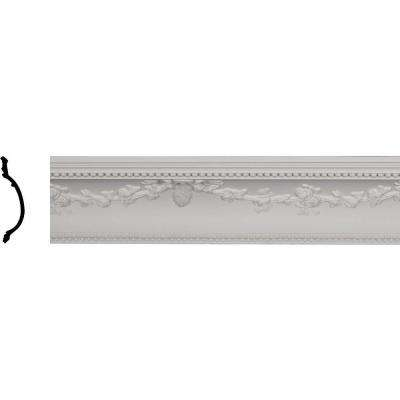 6-7/8 in. x 6-3/4 in. x 96 in. Polyurethane Floral Swag Crown Moulding