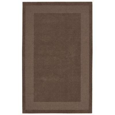 Simply Elegant Mocha 5 ft. x 8 ft. Area Rug