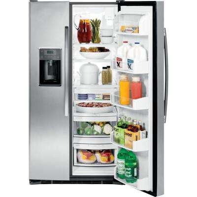 Adora 36 in. W 25.4 cu. ft. Side by Side Refrigerator in Stainless Steel