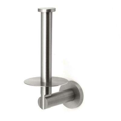 Channel Single Post Toilet Paper Holder in Satin Nickel