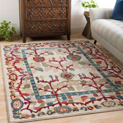 Articlave Cream 5 ft. x 7 ft. Area Rug