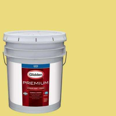 5 gal. #HDGG03D Citrus Lime Punch Satin Interior Paint with Primer