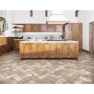 Capella Ivory Brick 5 in. x 10 in. Glazed Porcelain Floor and Wall Tile (5.55 sq. ft./case)