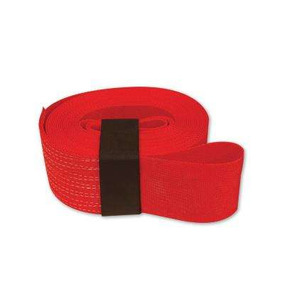 30 ft. 4 in. x 30 ft. Tow Strap with Hook and Loop Storage Fastener in Red