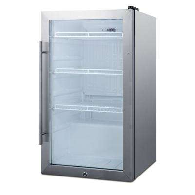 19 in. 3.1 cu. ft. Commercial Outdoor Refrigerator in Stainless Steel