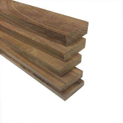 1 in. x 2 in. x 2 ft. S4S Select Walnut Board (Actual: 3/4 in. x 1-1/2 in. x 24 in.) (5-Piece/Case)