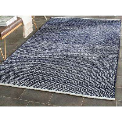Boston Navy 6 ft. x 6 ft. Square Area Rug