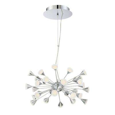 Esplo Collection 32-Light Chrome LED Chandelier