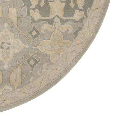 Chatsworth Grey 8 ft. x 8 ft. Round Area Rug