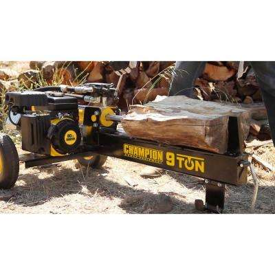 9-Ton Compact Horizontal 80cc Gas Log Splitter with Auto Return