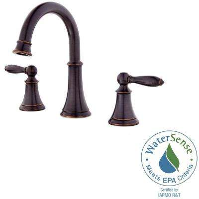 Courant 8 in. Widespread 2-Handle Bathroom Faucet in Tuscan Bronze