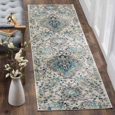 Madison Cream/Light Gray 2 ft. 3 in. x 12 ft. Runner Rug