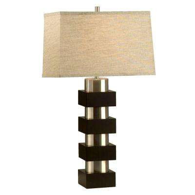Astrulux 28 in. Pecan Table Lamp