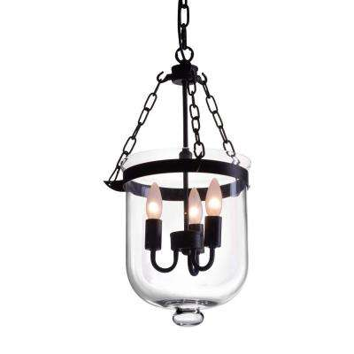 Masterton Distressed Black Ceiling Lamp