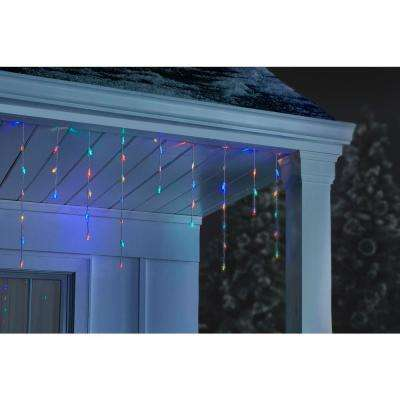 200-Light Multi-Color LED Dome Icicle Light Set