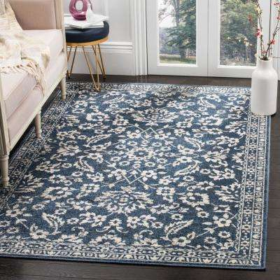 Carolina Dark Blue 9 ft. x 12 ft. Area Rug