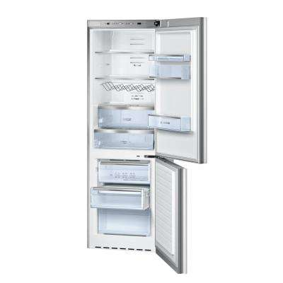 800 Series 24 in. 10 cu. ft. Bottom Freezer Refrigerator in White Glass, Counter Depth