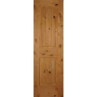 Superior 2 Panel Arch Top V Grooved Solid Core Knotty Alder Single Prehung Interior  Door