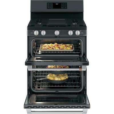30 in. 6.8 cu. ft. Gas Range with Self Clean Oven in Matte Black, Fingerprint Resistant