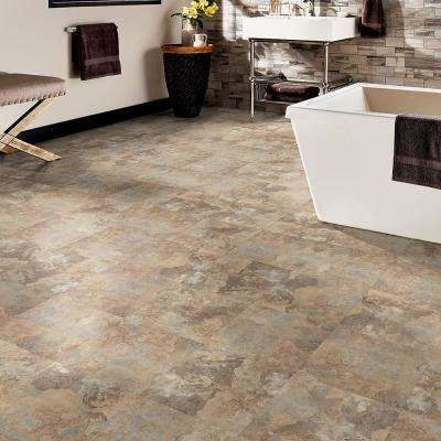 Beige Slate 12 in. Width x 12 in. Length x 0.080 in. Thick Peel and Stick Vinyl Tile