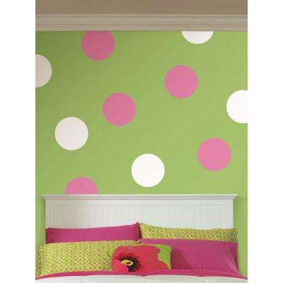 13 in. x 13 in. Ghost White Dot 10-Piece Wall Decal
