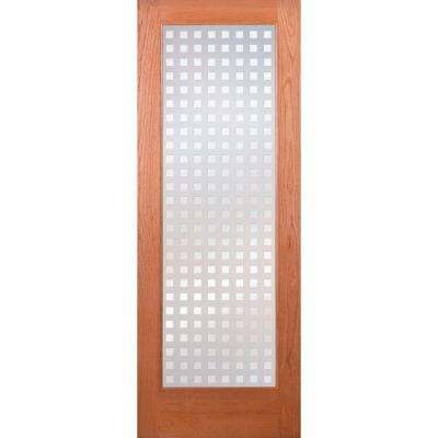 Multicube Woodgrain 1 Lite Unfinished Cherry Interior Door Slab