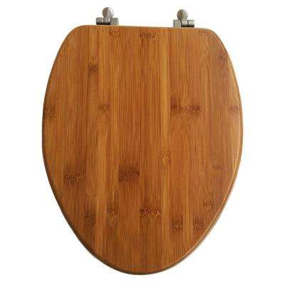 Elongated Closed Front Toilet Seat in Bamboo