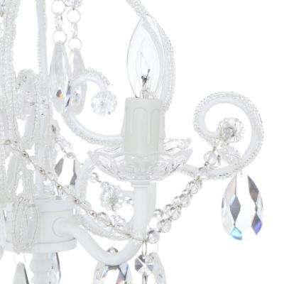 4-Light White Mini Chandelier