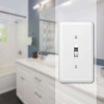 Declan 1 Gang Toggle Steel Wall Plate - White
