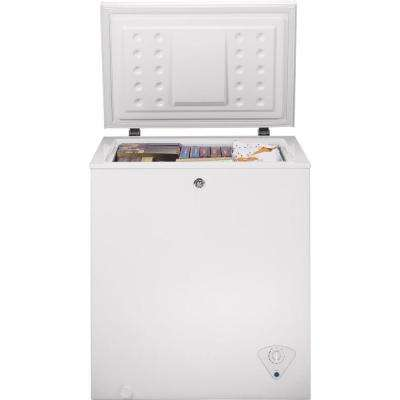 Garage Ready 5.0 cu. ft. Manual Defrost Chest Freezer in White
