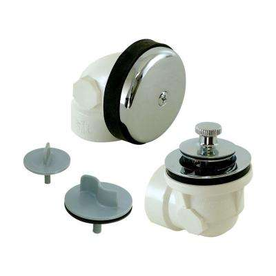 1-1/2 in. Sch. 40 PVC 1-Hole Bath Waste with Test Kit