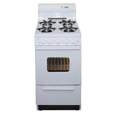 20 in. 2.42 cu. ft. Freestanding Gas Range in White