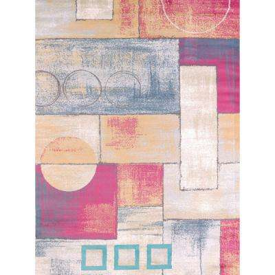 Abstract Multi 5 ft. 3 in. x 7 ft. 2 in. Indoor Area Rug