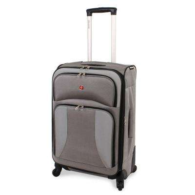 24 in. Pewter Spinner Suitcase