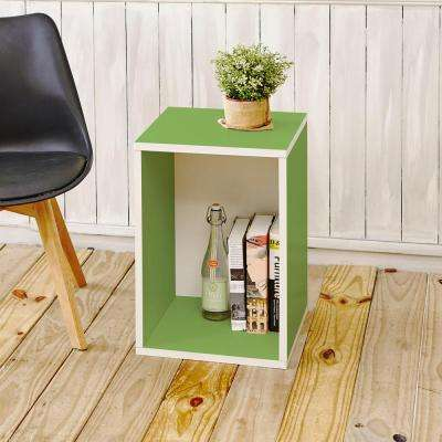 Blox System Vertical Green Stackable Modular Open Bookcase