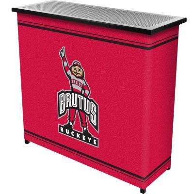 2-Shelf 39 in. L x 36 in. H The Ohio State University Portable Bar with Case