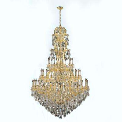 Maria Theresa 60-Light Gold with Clear Crystal Chandelier