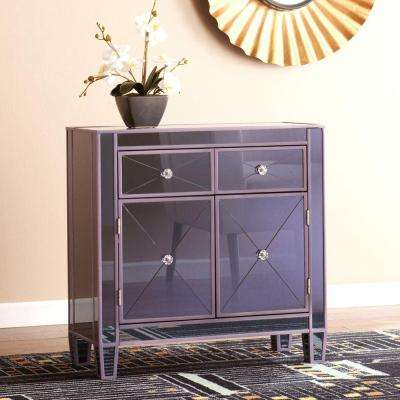 Pavel Colored Mirrored Cabinet in Purple