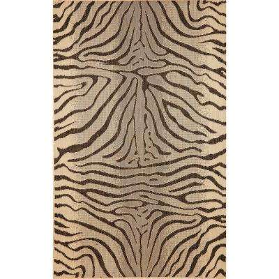 Baxter Wild Horse Charcoal 3 ft. 3 in. x 4 ft. 11 in. Indoor/Outdoor Accent Rug