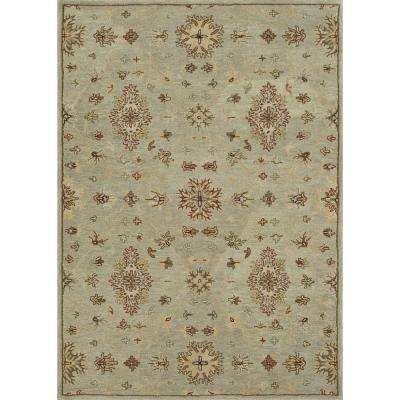 Fairfield Lifestyle Collection Turquoise 7 ft. 6 in. x 9 ft. 6 in. Area Rug