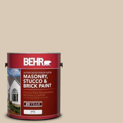 1-gal. #MS-41 Sandstone Beige Satin Interior/Exterior Masonry, Stucco and Brick Paint