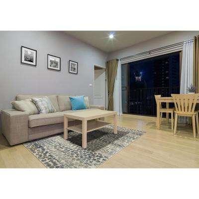 Gamba Gray 5 ft. x 8 ft. Indoor/Outdoor Area Rug